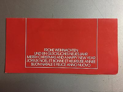 1980s Porsche FACTORY Issued Christmas & Happy New Year Card – ULTRA RARE Signed