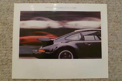 1980 Porsche 911 Turbo Coupe Showroom Advertising Sales Poster RARE Awesome L@@K