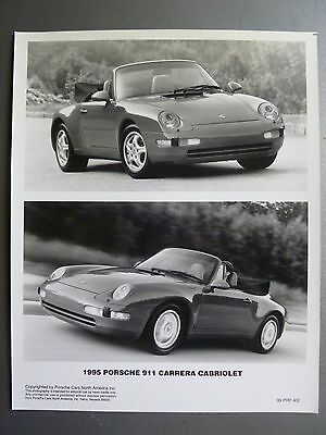 1995 Porsche 911 Carrera Cabriolet Press Photo PCNA Issued RARE!! Awesome L@@K