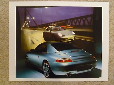 1999 Porsche Carrera 4 Cabriolet Showroom Sales Poster RARE!! Awesome L@@K