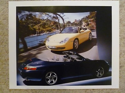 1999 Porsche Carrera Cabriolet Showroom Advertising Poster RARE!! Awesome Look