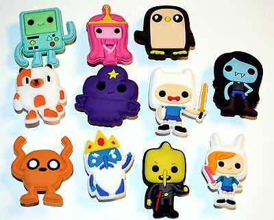 Adventure Time Inspired 11pc Shoe Charm Cake Toppers
