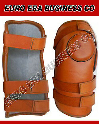 Horse Riding Polo Knee Guard & Padded 3 Strap  Black By EURO ERA