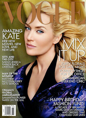 VOGUE USA November 2013,Kate Winslet,Sarah Jessica Parker,Matthew McConaughey