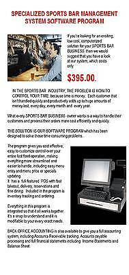 Sports Bar Pos Pos Management Software Srp $395.00 - Now Only $197.50