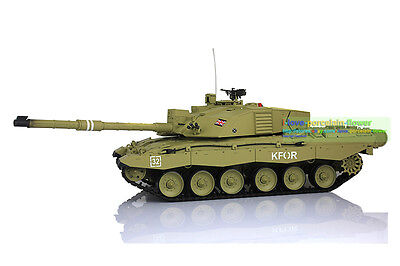 US Stock Fast Free Henglong 2.4GHz Challenger II RTR RC Tank Plastic Ver 3908