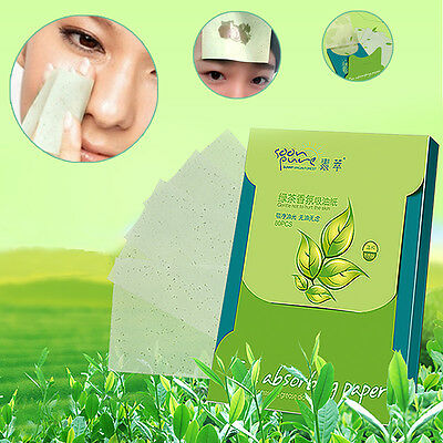 80 Sheets/Box face oil absorbing Paper Makeup Face Clean Paper Green Tea Scent