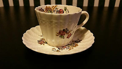 Spode Wicker Lane Teacup And Saucer