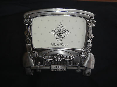 JUST MARRIED PHOTO FRAME  - NEW - (No. 15 )