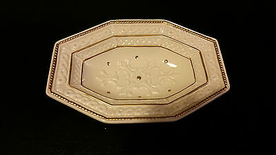 Fitz And Floyd Classics Plate Ivory With Gold Gilt Trim