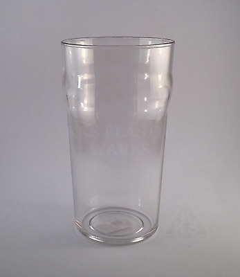 6 NEW Polycarbonate Unbreakable Plastic Beer Pint Glasses 568ml High Quality