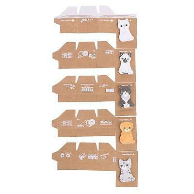 Five Cute Cat Style Notes Stickers Practical Post-it Notes Desktop Supplies