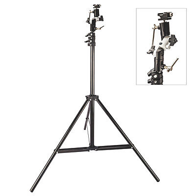Light Stand with Swivel Bracket & Shoe Mount Adapter Kit for Canon Nikon Flash