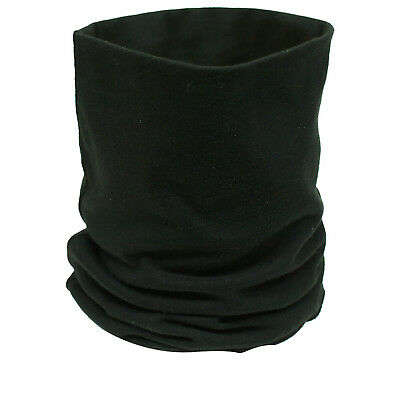 Black Cotton Motorcycle Neck Tube Bike Helmet Warmer Thermal Scarf Motorbike