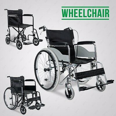 Lightweight Self-Propelled Portable Folding Wheelchair W/ Brakes 3 Types Travel