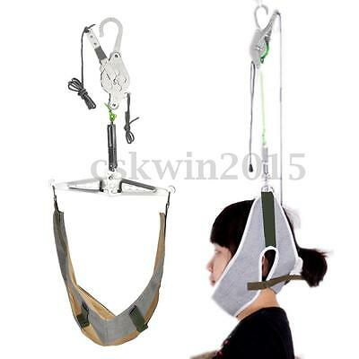 Over Door Cervical Traction Kit  Hanging Neck Stretch Gear Brace Pain Relief