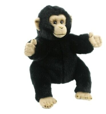 "Monkey Hand Puppet soft plush toy 10""/25cm By LELLY National Geographic NEW"