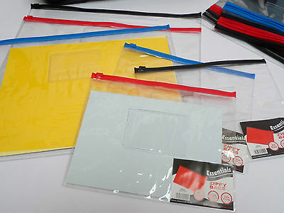 A5 & A4 Clear Zip Bag Document Storage Filing Wallet Bulk Packs of 60 or 120