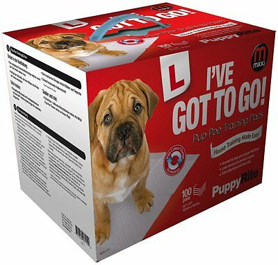100 pack Mikki I've Got To Go Pup-Pee Wee Pads Puppy Training Pads   (111)