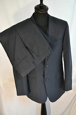 "Vintage blue /black two tone 3 piece suit size small 38"" waist 34"" mod skin"