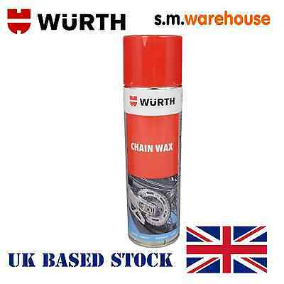 Wurth Motorcycle Motorbike High Performance Chain Wax Lube Spray 500 ML NEW CAN