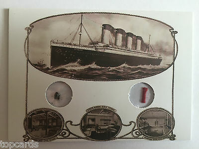 CULT STUFF RMS TITANIC Very Rare Dual Artifact Card TDA1