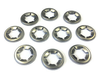 Stainless Steel Genuine Starlock Washers For Metric Round Shaft, push-on clips