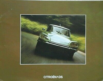 Citroen DS Brochure with 2 Official Road Test  Reports - July 1973