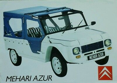 Citroen Mehari Azur leaflet  July 1986 - French