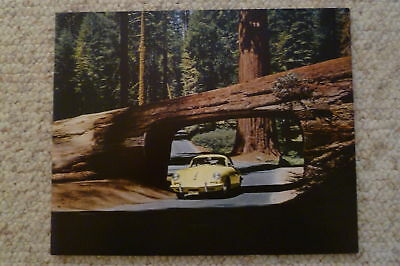 1964 Porsche 356 B Cabriolet Showroom Advertising Sales Poster RARE Awesome L@@K