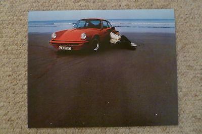 1976 Porsche 911 Coupe Showroom Advertising Poster RARE!! Awesome L@@K
