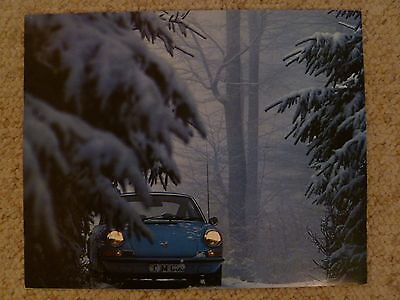 1973 Porsche 911 Coupe Showroom Advertising Sales Poster RARE!! Awesome L@@K