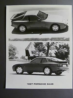 1987 Porsche 944 S Coupe B&W Press Photo PCNA Issued RARE!! Awesome L@@K