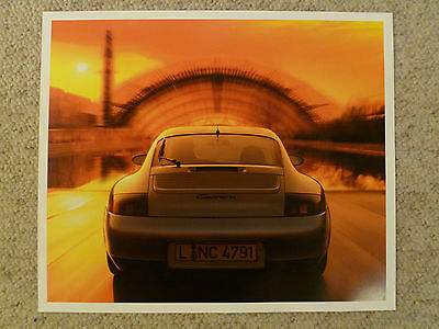 2001 Porsche Carrera Coupe Showroom Advertising Sales Poster RARE!! Awesome @@K