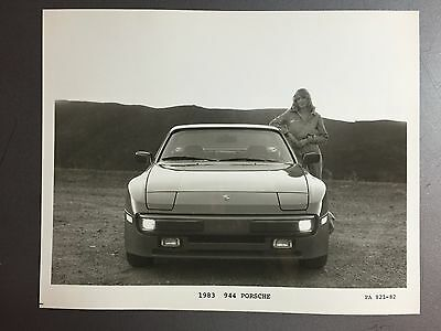 1983 Porsche 944 Coupe B&W Press Photo P+A Issued RARE!! Awesome L@@K