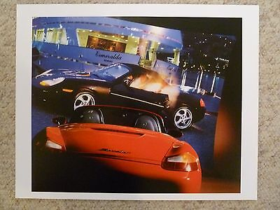 Awesome L@@K 2000 Porsche Boxster Showroom Advertising Sales Poster RARE!