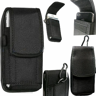 Universal Nylon Belt Loop Case Cover Holster Pouch for Large Mobile Phone