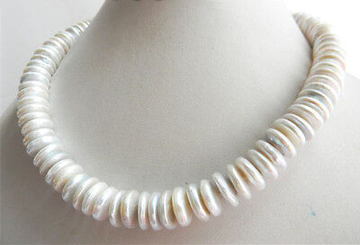 baroque 18'' AAA 12 MM SOUTH SEA NATURAL White PEARL NECKLACE 14K GOLD  CLASP