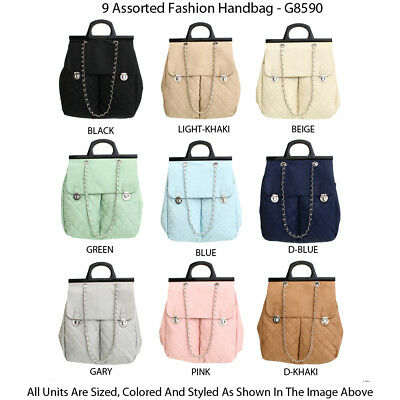 Wholesale Lot - 10 Women's Designer Backpacks and Tote Handbags