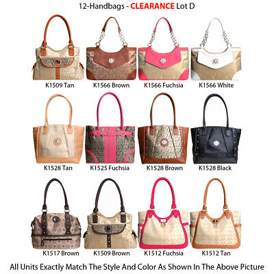Wholesale Lot - 12 G-Style Women's Designer Inspired Backpacks and Tote Handbags
