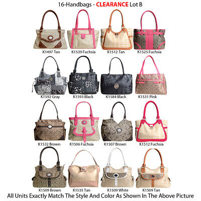 Wholesale Lot - 16 Designer Inspired Purses - New Women's Handbags