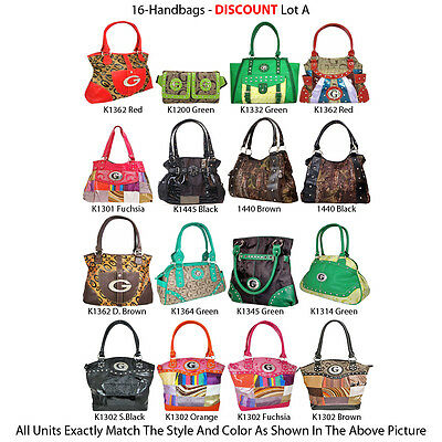 Wholesale Lot - 16 Women's Designer Inspired Handbags Purses