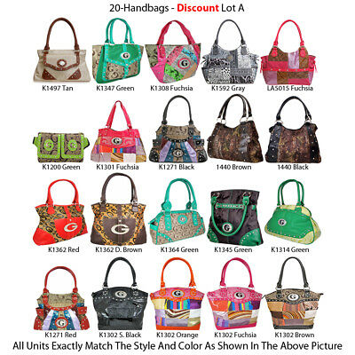 Wholesale Lot - 20 G-Style Women's Handbags - Multi-Color Purses