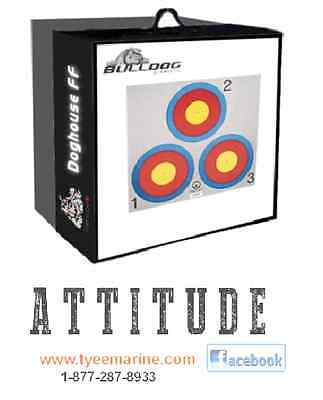 Bulldog Doghouse FF Archery Target FREE Ship in Canada & US lower48 250-334-2942