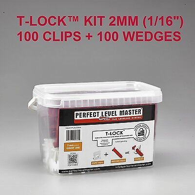 "T-Lock tile leveling system by Perfect Level Master 1/16"" spacers and wedges KIT"