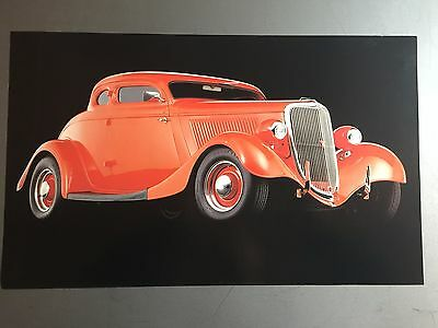 1934 5-Window Coupe Street Rod Print, Picture, Poster RARE!! Awesome L@@K