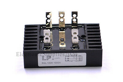 Lanpu 1000V 100A Diode Bridge Rectifier 1000 Volts 100 Amps - USA FAST SHIPPING