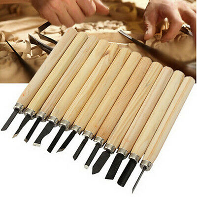 Chisel Gouges Knife Set Tool Woodworkers Wood 12pc Professional Hand Carving