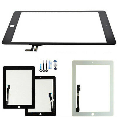 Replacement Touch Screen Glass Digitizer for iPad 2 3 4 5 Air w/ Repair Kit