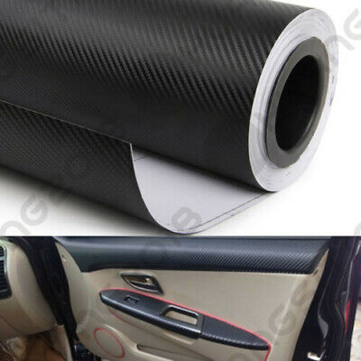 3D Carbon Fiber Vinyl Wrap Sticker Car SUV Interior Accessorie Console Dashboard